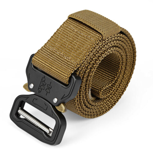 Military Tactical Quick Release Buckle Belt Rigger Waistband Nylon Web Strap