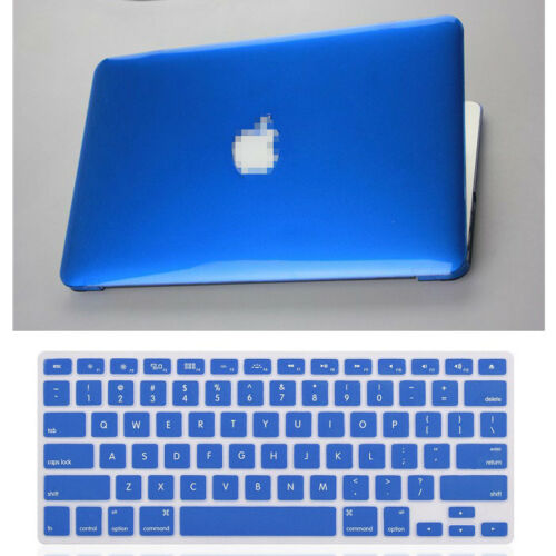 "2in1 10Colors Crystal Plastic Hard Case+KB Cover for Mac Pro 13/"" A1278//15/"" A1286"