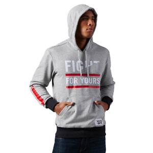 Reebok Combat Glory Hoody Herren Kapuzen Pullover Hoodie UFC Sweat Shirt schwarz