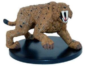 Saber-Toothed Tiger D/&D Mini SMILODON Pathfinder Dungeons /& Dragons Miniature