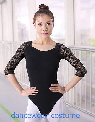 Adulto donne balletto calzamaglia danza ginnastica odettedancesport Body manica