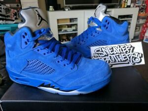 cbf834bb99f44 Nike Air Jordan Retro V 5 Blue Suede Flight Suit East Game Royal ...
