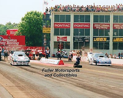 CHUCK ETCHELLS vs GARY DENSHAM 1996 DODGE AVENGER NHRA FUNNY CAR 8X10 PHOTO
