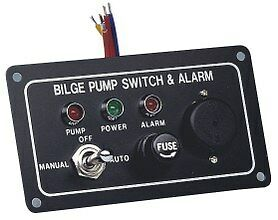 Bilge-Pump-Marine-LED-Switch-Panel-With-Fuse-amp-Alarm12-Volt-Switch-Panel-New