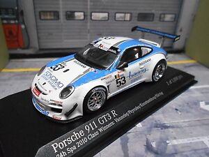 PORSCHE 911 997 GT3 R 24h Spa 2010 Class Winner #53 Vannelet Hä Minichamps 1:43