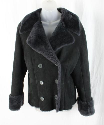Calvin Klein Nan Duskin Vintage Black Sheepskin Sh