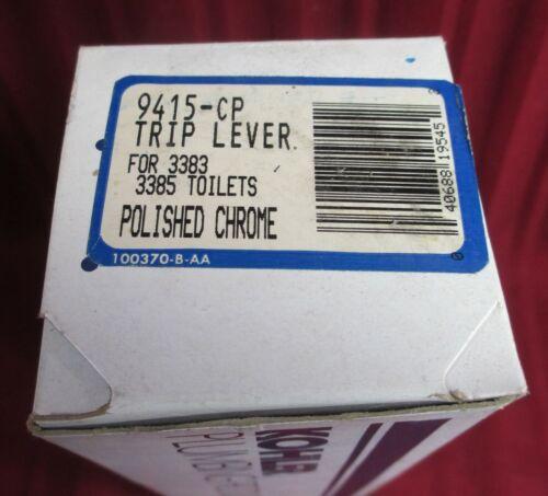 KOHLER TANK 9415 CP TOILET COMODE TRIP LEVER CHROME BRASS FLUSH HANDLE 3383 3853