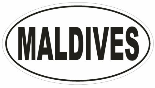 Maldives Ovale Autocollant ou Casque Autocollant D2204 Euro oval code pays