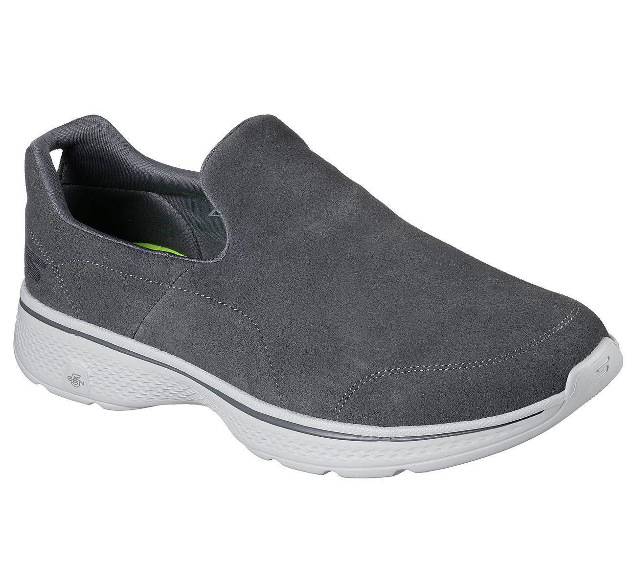 Skechers Hombre Go Walk 4-experiencia Smart Casual Zapatos/Entrenadores en carbón