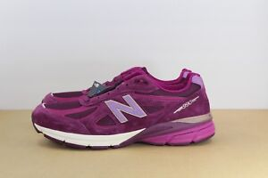 new product e1e64 9602d Details about Women's New Balance 990v4 990 Running Shoes Dark Mulberry  Purple W990DM4 Size 6