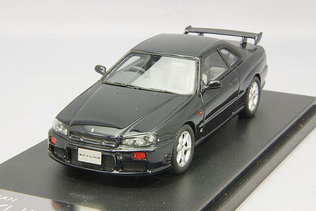 1 43 Hi-Story gico Nissan Skyline 25GT Turbo ER34 Gtt 1998 Azul Oscuro HS156BL