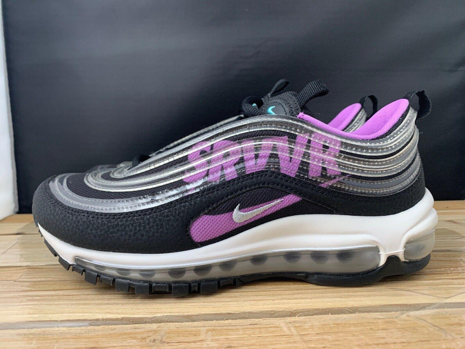 nike air max 97 black white purple