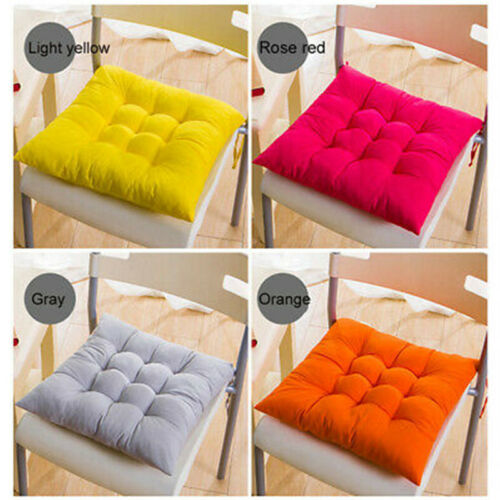 Hot Soft Thicken Pad Chair Cushion Tie on Seat Dining Room Kitchen Office Decor