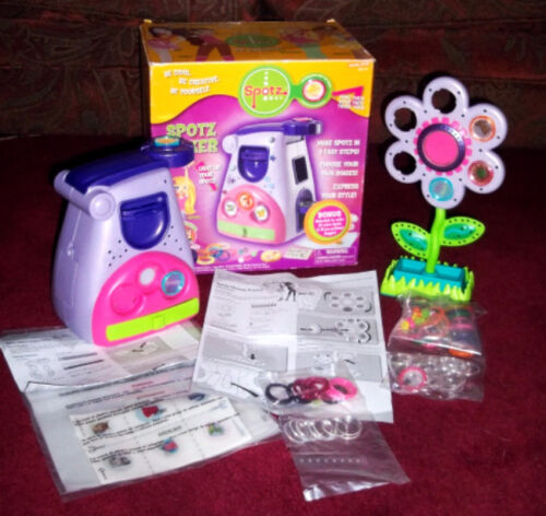 SPOTZ MAKER by ZIZZLE Button maker with Flower display RARE Excellent CRAFT KIT