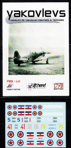 1//72 Jak-9 der Jugoslawischen Luftwaffe lh785// Lift Here Decals Jak-3 u