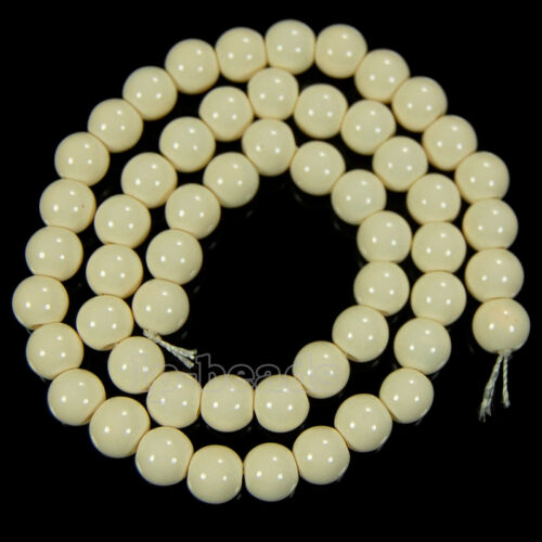"""Quality Czech Opaque Coated Glass Pearl PERLES rondes 15.5/"""" 4 mm 6 mm 8 mm 10 mm 12 mm"""