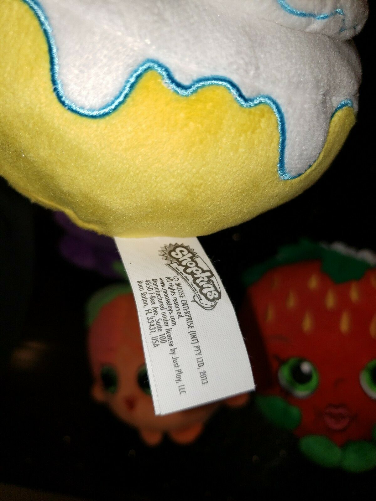 Shopkins Lot 4 Miss Peach strawberry strawberry strawberry Cindy Bon Plush Stuffed 5c9f3e