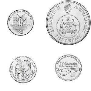 4-x-Australian-20-Cent-UNC-Commemorative-coins-changeover-women-039-s-day-Taxation