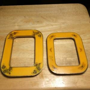 Vintage Bucklers Inc 5th Ave, NY. Enamel Picture Frames NO glass or backs