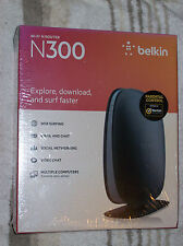 NEW & SEALED Belkin N300 Wireless N Router  4-Port 300 Mbps F9K1002