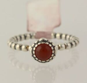 9734323ac Image is loading NEW-Pandora-Carnelian-Ring-925-Sterling-Silver-Band-