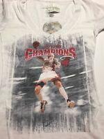 Women's Miami Heat White Tee Shirt Level Wear