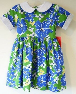 Brand New Kayce Hughes Kathleen Blue//Green Poppy Dress Girl/'s Size 3