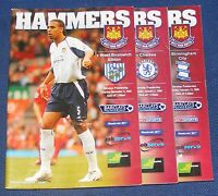 WEST HAM UNITED HOME PROGRAMMES 2005-2006