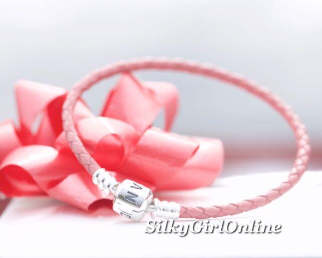 Pandora Honeysuckle Single Strand Leather Woven Cord Charm