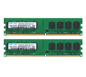 Samsung-4GB-2X-2GB-DDR2-800MHz-PC2-6400-RAM-DIMM-Memoria-de-escritorio-para-CPU-Intel