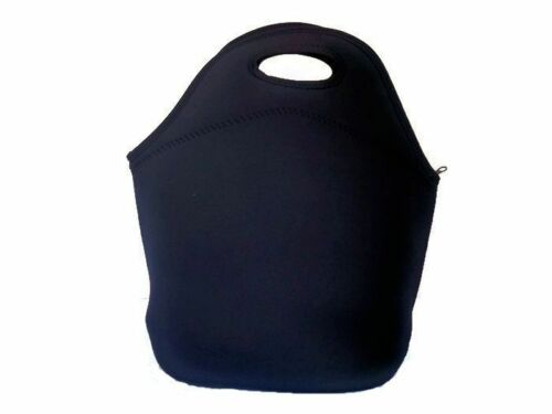 Black Lunch Bag Extra Large Made of Thick 4mm Neoprene to help food Stay Cold