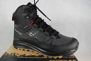 Salomon-Boots-Z-Lacing-Black-Waterproof-Gore-Tex-Kaipo-Mid-GTX-New