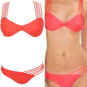 ee9b698eb09 2016 Sexy Pink Women's Strappy Bikini Set Bandage Criss Cross ...