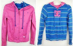 Vintage-90-039-s-DC-Reversible-Zipper-Hoodie-Jacket-Women-039-s-Size-Small