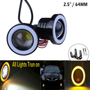 2-5-034-COB-Fog-Light-Driving-DRL-Projector-Car-Lamp-Halo-Angel-Eyes-LED-Yellow-UK