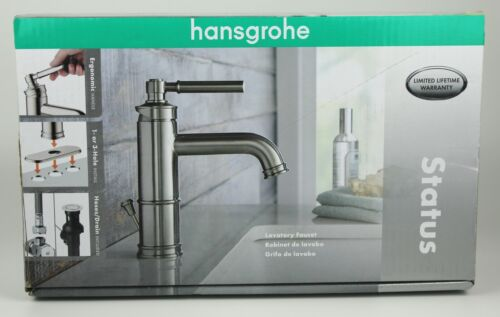 Hansgrohe Status Bathroom Lavatory Faucet Brushed Nickel Brand New in Box