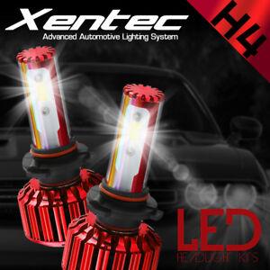 2017 COB LED H4 Headlights Car Vehicle Upgrade 6th Gen Conversion 200W HID Bulbs