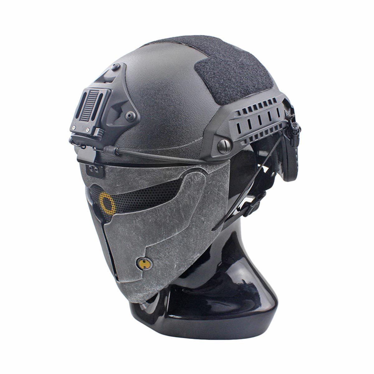 Handmade Wire Mesh Glass Fiber Resin Airsoft CS Half Face mask For Helmet M102