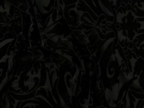 Puccini-Black-M Puccini Burnout Stretch Velvet Dress Fabric
