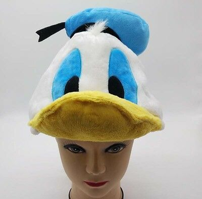 New Disney Donald Duck Costume Hat Cap Plush Cosplay