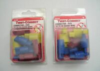 2 Packs Of 10 Twist Connect Brand No Tool Wire Connectors For 10-20 Ga. Wire