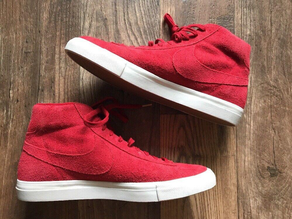 c437473fda2 New Nike Blazer Mid Premium Suede White Red Size 12.5 Unreleased Sample  UNIQUE