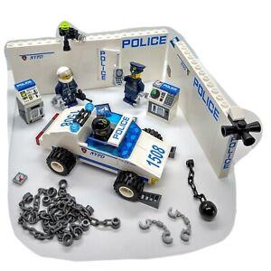 Lego-police-Minifigures-Voiture-Murs-Menottes-Chaines-ordinateurs-coffres-forts-appareil-photo