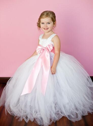 New Flower Girls Tutu Dress Kids Baby Dress Wedding Party Girls Dresses CB12-13