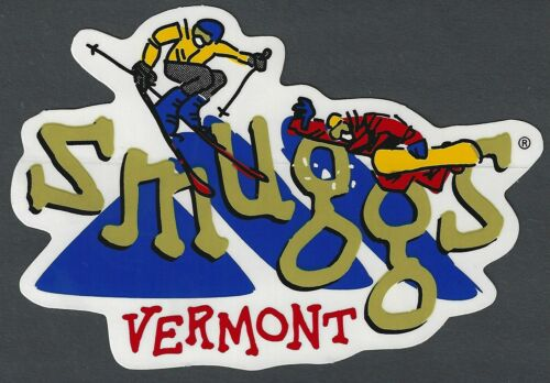 SMUGGLERS NOTCH SMUGGS VERMONT SKI SNOWBOARD RESORT AREA MOUNTAIN STICKER DECAL