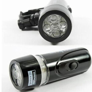 5 LED Lamp Bike Bicycle Front Head Light Rear Safety Flashlight Waterproof Set *