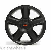 4 Chevy Suburban Tahoe Ltz Matte Black 20 Wheels Rims Red Bowtie 5308