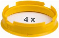 4 x Zentrierringe 72.6 mm auf 65.1 mm gelb Citroen, Opel, Peugeot, Saab