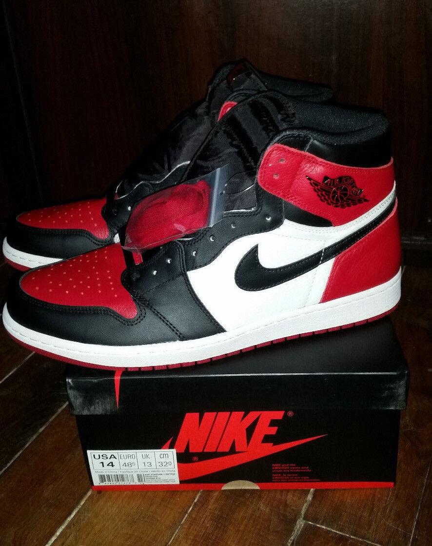 VERY RARE  US14 Nike AIR Jordan 1 I Bred Toe DS QS OG ALL
