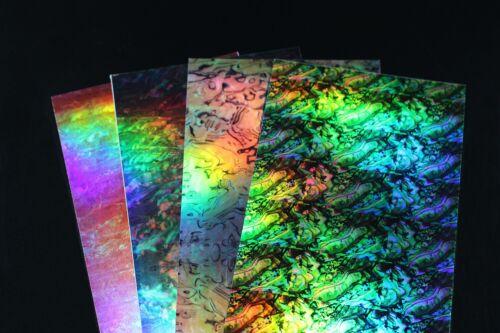 4 pcs 10X22cm Abalone Shell Sticker Artificial Fish Skin Jig Baits Lures sticker